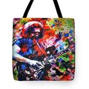 Jerry Garcia - Grateful Dead - Original Painting Print Tote Bag
