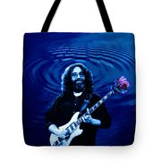 Blue Ripple Rose Tote Bag