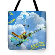 Jerry In The Sky With Love Tote Bag
