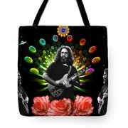 Jerry Spacepods Triple Jerry Ufo Roses Under Cosmic Sun Tote Bag