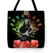 Jerry Spacepods Ufo Roses Under Cosmic Sun Tote Bag