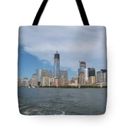 Jersey City And Hudson River Tote Bag