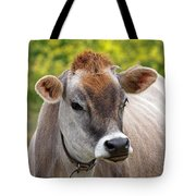 Jersey Cow With Attitude - Square Tote Bag