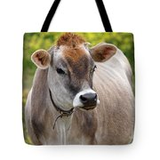 Jersey Cow With Attitude - Vertical Tote Bag