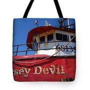 Jersey Devil Clam Boat Tote Bag