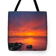 Jersey Shores Fire In The Sky Version 2 Tote Bag