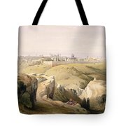 Jerusalem From The Mount Of Olives Tote Bag by David Roberts