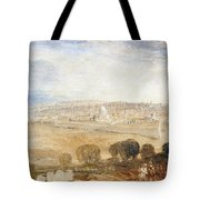 Jerusalem From The Mount Of Olives Tote Bag by Joseph Mallord William Turner