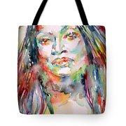 Jessye Norman - Watercolor Portrait Tote Bag