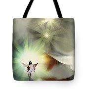 Jesus Abstract Tote Bag