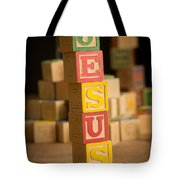 Jesus - Alphabet Blocks Tote Bag