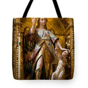Jesus And Angel Sculptures In Mezquita Tote Bag