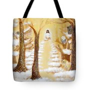 Jesus Art - The Christ Childs Asleep Tote Bag by Ashleigh Dyan Bayer