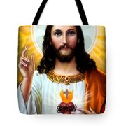 Jesus Big Heart Tote Bag