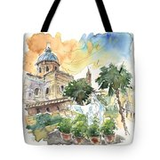 Jesus By Palermo Cathedral Tote Bag