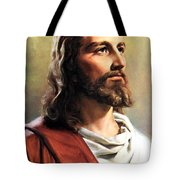 Jesus Christ Tote Bag by Munir Alawi