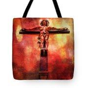 Jesus Christ On The Cross Tote Bag