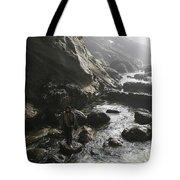 Jesus Christ- Walking With Angels Tote Bag