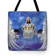 Jesus Enthroned Tote Bag by Tamer and Cindy Elsharouni