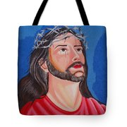 Jesus Hand Embroidery Tote Bag by To-Tam Gerwe