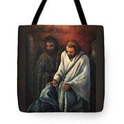 Jesus Healing Beggar Tote Bag