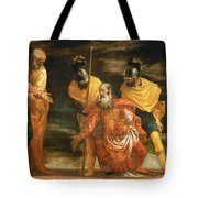 Jesus Healing The Servant Of A Centurion Tote Bag
