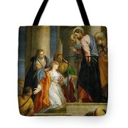 Jesus Healing The Woman With The Issue Of Blood Tote Bag