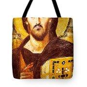 Jesus Icon At Saint Catherine Monastery Tote Bag