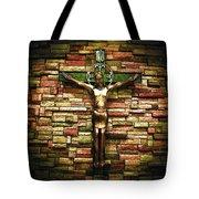 Jesus Is His Name Cream Border Tote Bag by Al Harden
