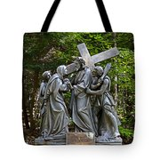 Jesus Meets His Mother Tote Bag