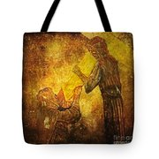 Jesus Meets His Mother Via Dolorosa 4  Tote Bag by Lianne Schneider