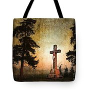 Jesus On The Cross Tote Bag