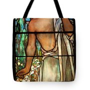 Jesus Stained Art - St Paul's Episcopal Church Selma Alabama Tote Bag