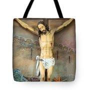 Jesus Statue At Latin Church In Taybeh Tote Bag