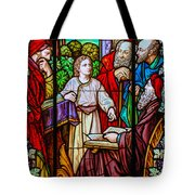 Jesus Teaches In The Temple Tote Bag