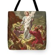Jesus Walking On The Water Tote Bag