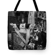 Jesus With Arms Wide Open Religious Figurines In A Shop Window In Toronto Tote Bag
