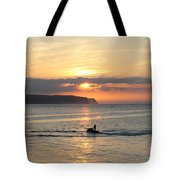 Jet Bike Sunset Tote Bag