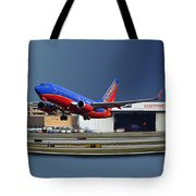 Jet Chicago Airplanes 12 Out Of Bounds Tote Bag