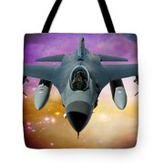Jet Fighter Aircraft F-16 Falcon Aircraft  Tote Bag by Ericamaxine Price