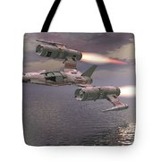 Jet Flying Low Tote Bag