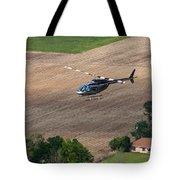 Jet Ranger Flyby Tote Bag