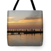 Jetty In The Eveninglight Tote Bag