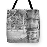 Jewel In The Woods In Black And White Tote Bag