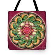 Jewel Of The Heart Mandala Tote Bag