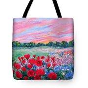 Jeweled Sunset Tote Bag