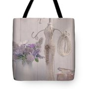 Jewellery And Pearls Tote Bag by Amanda Elwell