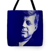 Jfk - Blue Tote Bag