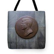 Jfk Memorial Tote Bag