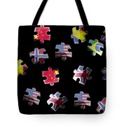 Jigsaw Puzzle Flag Pieces Tote Bag